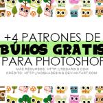 +4 Patrones de Búhos gratis para Photoshop