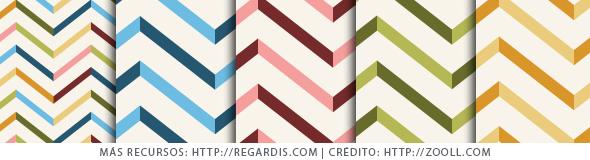 5 Patrones Coloridos de Zig Zag Gratis