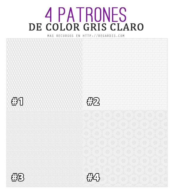 4 Fondos / Patrones de Color Gris Claro