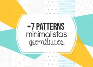 +8 Patterns Minimalistas Geométricos Gratis