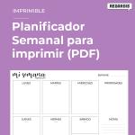 Planificador Semana para Imprimir (PDF) - Descarga Gratis