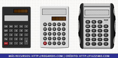 3 PNGs de Útiles Escolares: Calculadoras