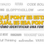 ¿Qué font es esta? ¿Cuál es esa font?