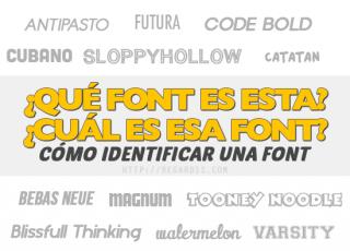 Cómo Identificar una Font. ¿Qué tipografía es esta?