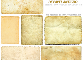 Pack de texturas de papel antiguo