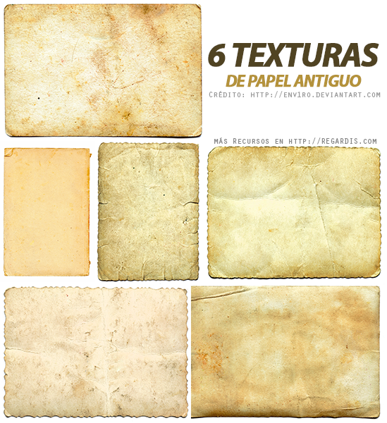 Pack de texturas de papel antiguo