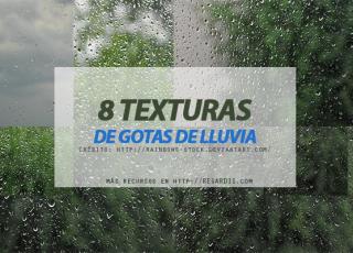 8 Texturas de gotas de lluvia