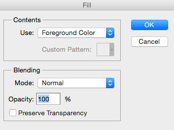Cómo rellenar una capa de un color en Photoshop