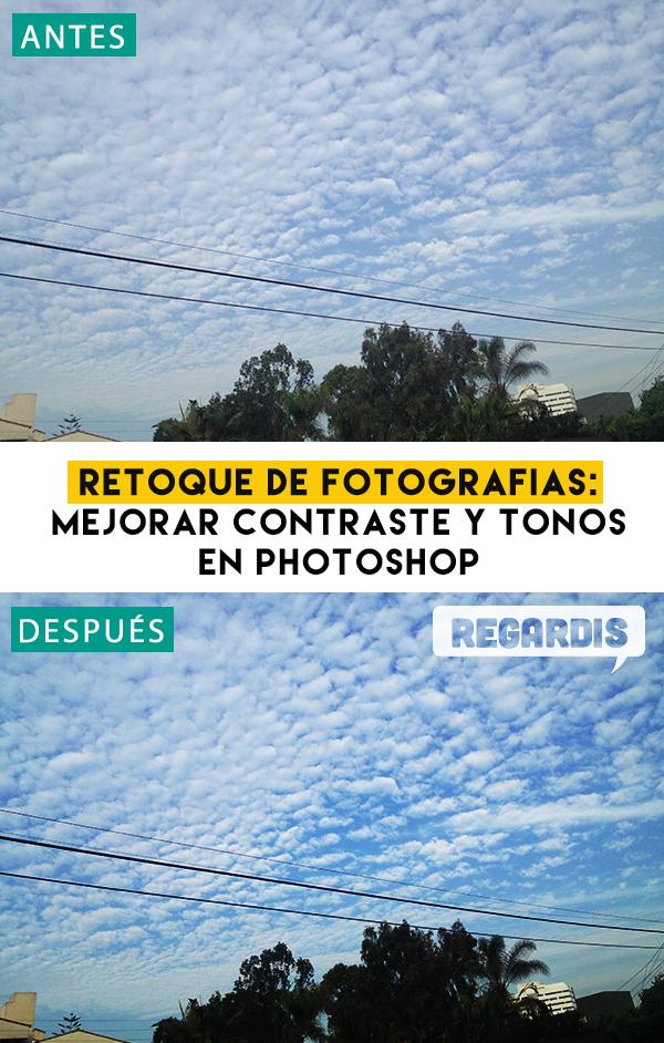 Retoque de fotografías: Mejorar contraste y tonos en Photoshop