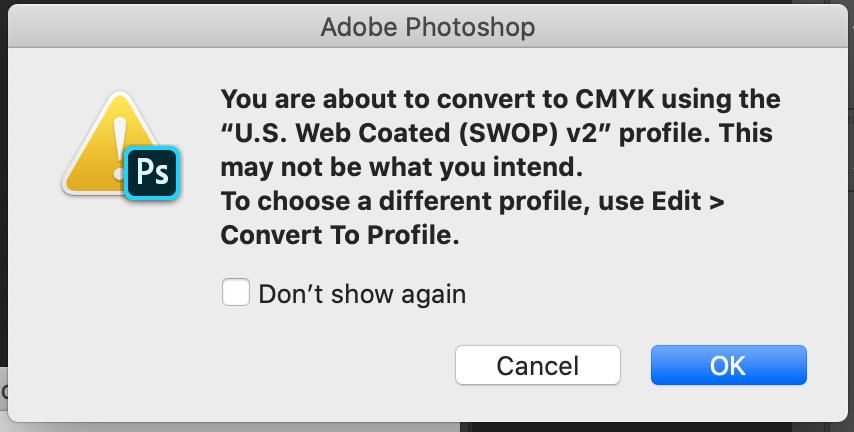 Cambiar de RGB a CMYK en Photoshop