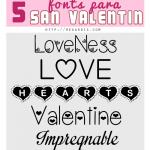 5 Fonts para San Valentín gratis