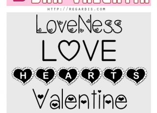5 fonts gratis para san valentin