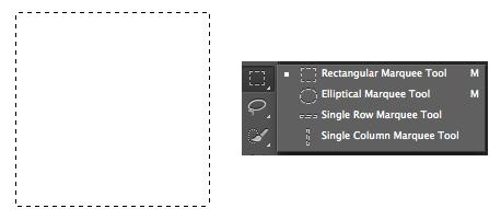 Selección cuadrada en Photoshop
