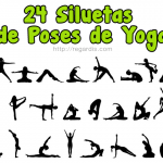 24 PSDs de Siluetas de poses de yoga