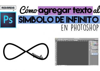 Cómo Agregar Texto al Símbolo de Infinito en Photoshop