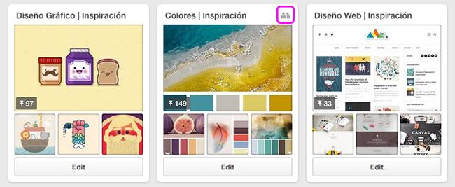 Cómo encontrar tableros grupales en Pinterest?