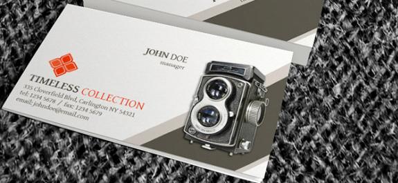 5. Descargar: Tarjeta de presentación vintage PSD gratis