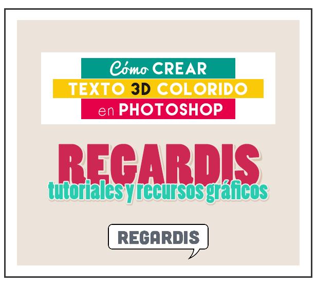 Cómo crear texto 3D colorido en Photoshop