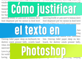 Cómo justificar el texto en Photoshop