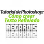 Cómo crear texto reflejado en Photoshop