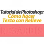 Cómo hacer Texto con Relieve en Photoshop