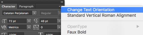Cómo cambiar la orientación del texto en Photoshop