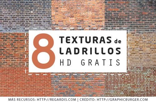 8 Texturas de Ladrillos HD Gratis