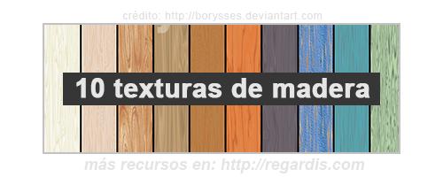 10 Texturas de madera colorida gratis