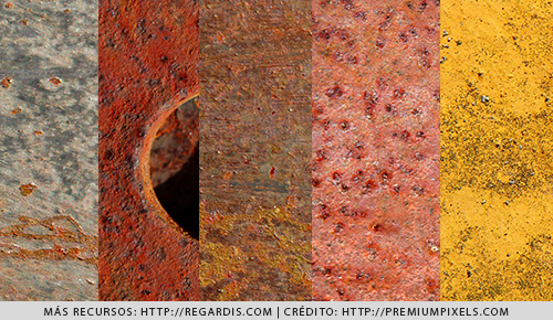 10 Texturas de Metal Oxidado HD Gratis