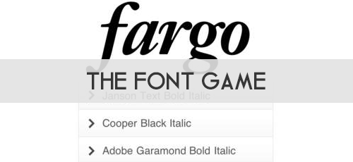 The Font Game: Juego para adivinar fonts