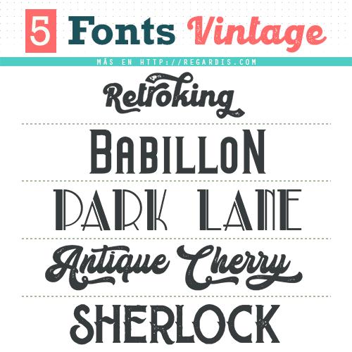 5 Fonts Vintage Gratis (Tipografía Vintage)