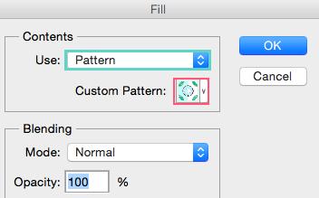 Cómo rellenar con un patrón (pattern)