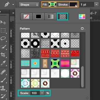 Cómo aplicar patrones a rellenos y contornos en Photoshop