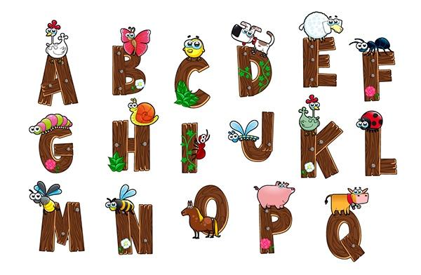Vectores Alfabeto para Niños gratis
