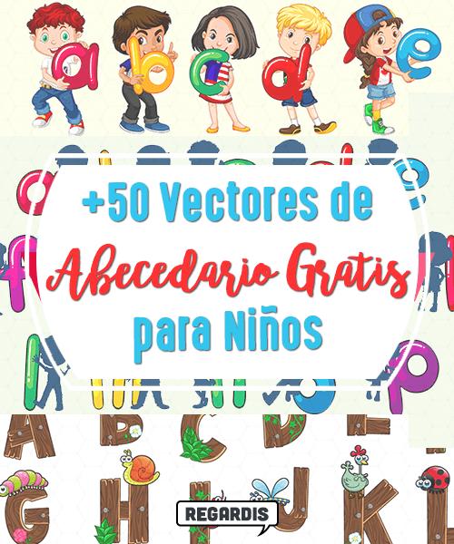 50 Vectores de Abecedario Gratis para Niños » Regardis