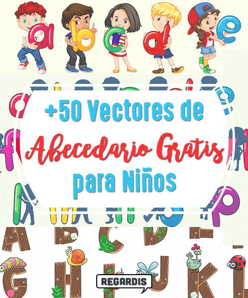 +50 Vectores de Abecedario Gratis para Niños