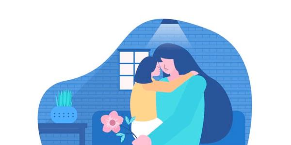 Vectores Día de La Madre - Madre e hija con mucho amor