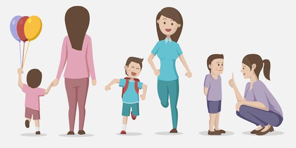 Vectores Día de La Madre - Madre e hijo