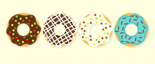 Descarga sin costo vectores de donuts