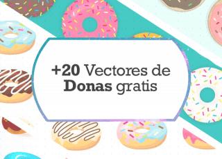 +20 Vectores de Donas Gratis