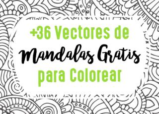 +36 Vectores de Mandalas Gratis para Colorear