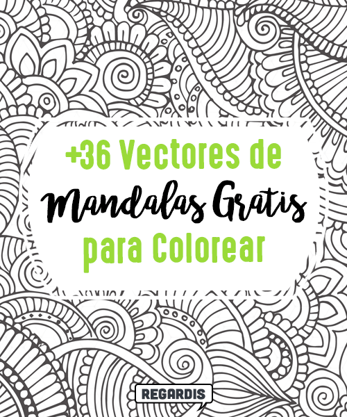 36 Vectores de Mandalas Gratis para Colorear » Regardis