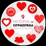 9 Vectores de Corazones Gratis