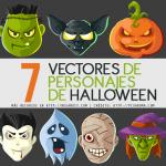 7 Vectores de Personajes de Halloween Gratis
