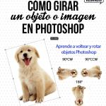 Cómo girar un objeto o imagen en Photoshop