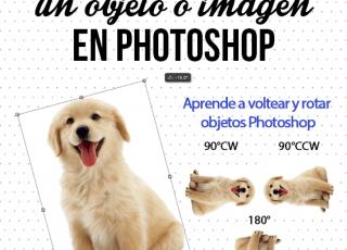 Cómo voltear un objeto o imagen en Photoshop