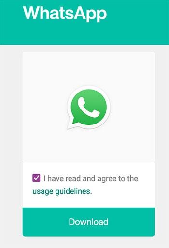 Descargar el botón oficial de WhatsApp